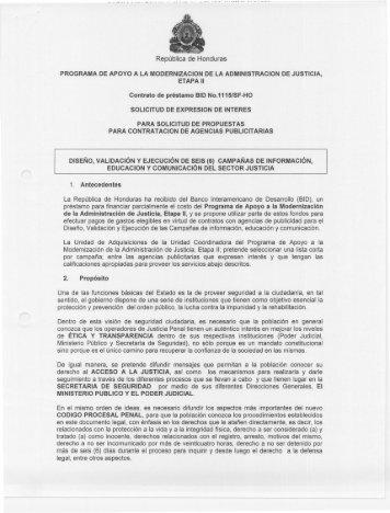 SDLiCITUD DE EXPRESIDN DE lNTEREE - HonduCompras