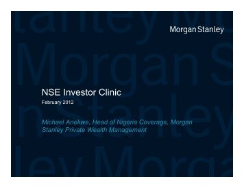 Investors' Clinic Presentation - The Nigerian Stock Exchange