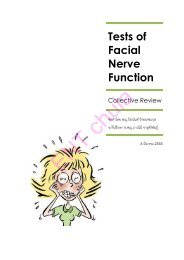 Tests of Facial Nerve Function