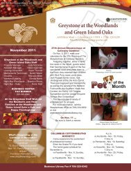 November 2011 - Greystone Properties