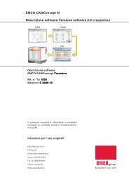 EMCO CAMConcept M Descrizione software Versione software 2.0 ...