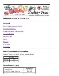 HEALTHY FRUIT Vol. 21, No. 10, June 4, 2013