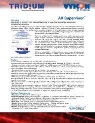 AX Supervisor™ - Core Controls