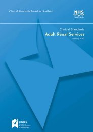 Adult Renal Services - The Scottish Renal Registry