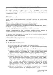 Pravidla pro prodej domů a b.j.- 8.ZM -13.9.2007