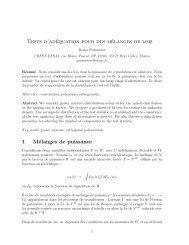 Tests d'adéquation pour des mélanges de lois 1 Mélanges de ...