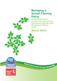 Managing a School Filtering Policy - EiS Kent