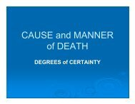 CAUSE and MANNER of DEATH - NACDL