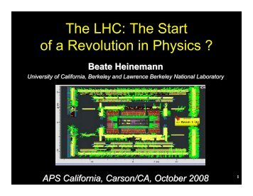 The LHC - Www Atlas Lbl - Lawrence Berkeley National Laboratory
