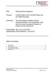 Title: Using AutoConvergence Product: OrCAD PSpice A ... - FlowCAD