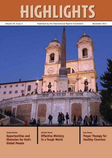 2011 November.pdf - International Baptist Convention