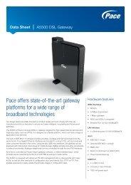 Data Sheet - Pace A5500 DSL Gateway