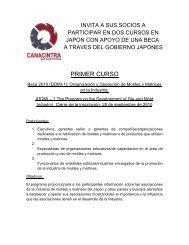 PRIMER CURSO - Canacintra San Luis Potosí