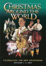 Concert Program - BYU International Folk Dance Alumni