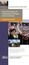 Greater Rochester, Economic Impact of Independent Colleges ... - cIcu
