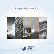 Rapport d'activité 2012 - Mercator Océan