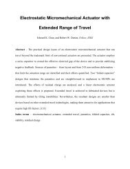 Electrostatic Micromechanical Actuator with Extended Range of Travel