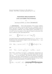 WEIGHTED DERANGEMENTS AND LAGUERRE POLYNOMIALS ...
