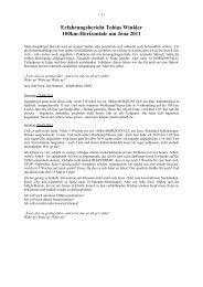 Erfahrungsbericht Tobias Winkler 100km-Horizontale um Jena 2011