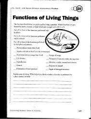 Functions of Living Things - Atlanta Public Schools