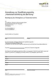 Anmeldung und Kostenübernahmeerklärung (Abschluss ... - ver.di b+b