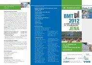16. – 19. September 2012 46. DGBMT JAHRESTAGUNG ... - medways