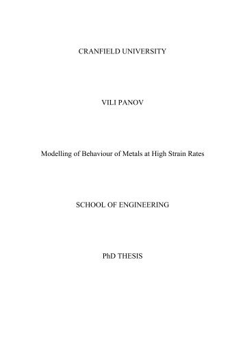 cranfield university phd thesis Phd and dissertation cranfield university masters thesis difference between dissertation and paper value based management master thesis.