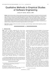Qualitative Methods in Empirical Studies of Software Engineering