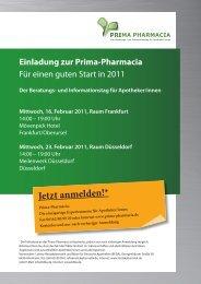 Einladung zur Prima-Pharmacia - Die Börse für Deutsche Apotheken