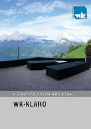 Prospekt Geländersystem WK-Klaro - Werner Keller Technik AG