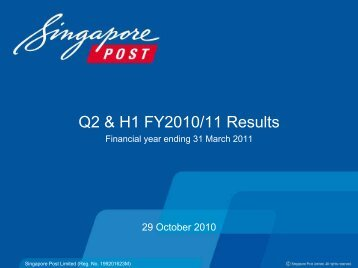 Results Presentation - Singapore Post