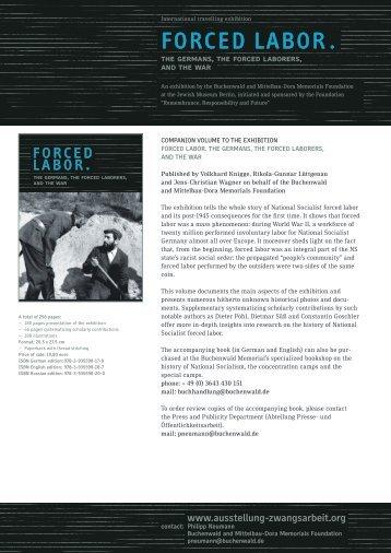 FORCED LABOR . - Ausstellung Zwangsarbeit