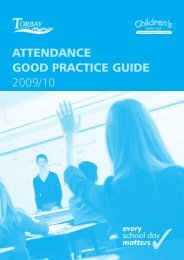 Attendance Good Practice Guide 2009/10 - Torbay Council