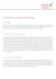 Information on Gluten Intolerance
