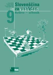 Slovenščina za vsakdan in vsak dan 9 - rešitve učbenika
