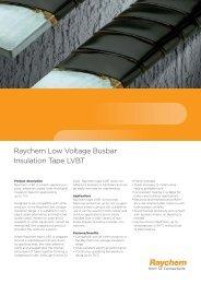 Raychem low voltage busbar insulation tape LVBT - TE Connectivity
