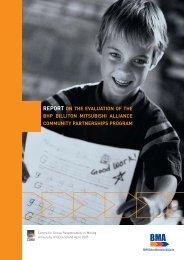 report on the evaluation of the bhp billiton mitsubishi alliance ...