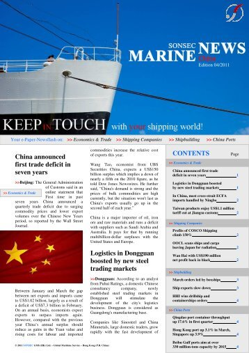 April 2011 - Marine News China
