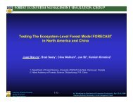 Testing The Ecosystem-Level Forest Model FORECAST in North ...