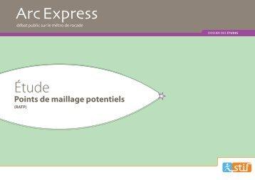 Pôles de maillage avec le réseau RATP - Arc Express