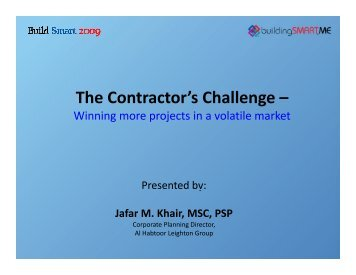 The Contractor's Challenge – - ITP.net