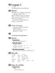 Langage Ca - Pages de Michel Deloizy - Free