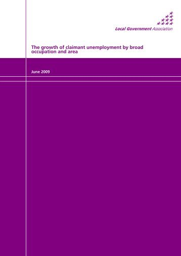 The growth of claimant unemployment by broad occupation and area