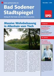 Bad Sodener Stadtspiegel - SPD Main-Taunus