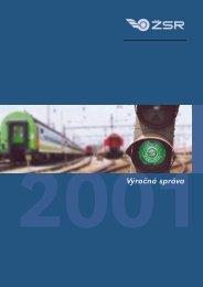 Výročná správa 2001 - ŽSR