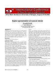 Digital representation of musical vibrato - Prof. Marco Costa