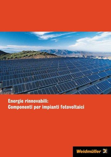 Energie rinnovabili: Componenti per impianti fotovoltaici - Rexel