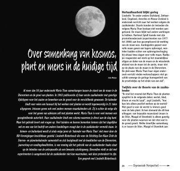 Over samenhang van kosmos, plant en mens in de huidige tijd