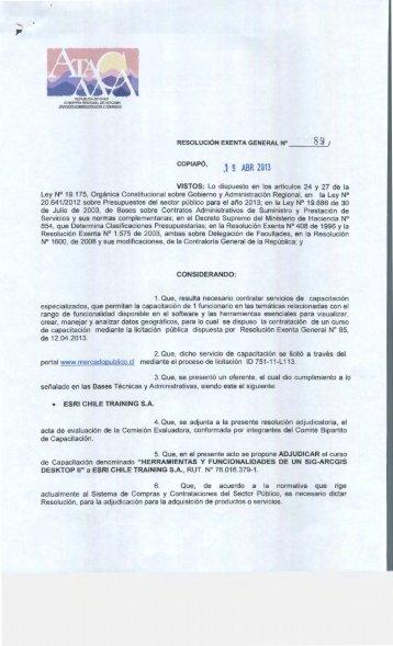 .1 9 ABR 2013 - Gobierno Regional de Atacama