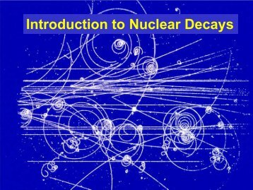 Introduction to Nuclear Decays